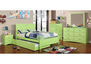 Prismo Green Full Platform Bed