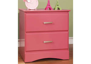 Prismo Pink Nightstand