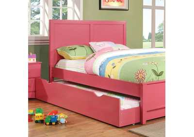 Prismo Pink Full Platform Trundle Bed