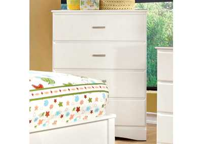 Prismo White Drawer Chest