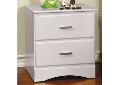 Image for Prismo White Nightstand