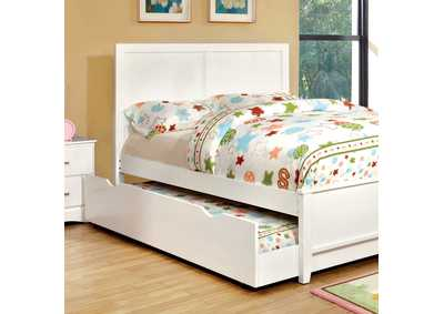 Prismo White Full Platform Trundle Bed