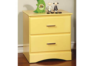 Prismo Yellow Nightstand