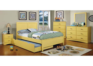 Prismo Yellow Twin Headboard