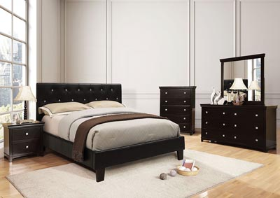 Velen Upholstered Black Full Bed