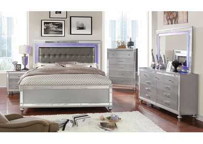 Brachium Silver Upholstered California King Bed