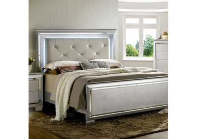 Bellanova Silver Upholstered/Panel Queen Bed