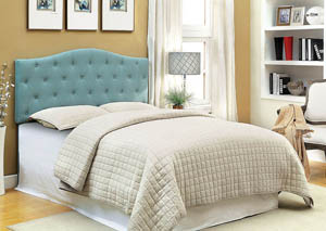 Alipaz Blue Queen Headboard