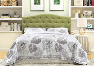 Image for Alipaz Green Queen Headboard