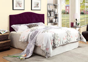 Alipaz Purple Queen Headboard