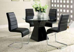 Image for Mauna Black Dining Table w/4 Side Chair