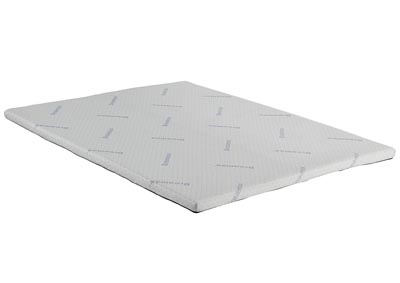 Nadine White Eastern King Nu-Tex Foam Topper Mattress