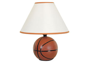 Sparta Ivory & Orange Basketball Table Lamp (8/Ctn)