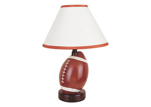 Sparta Ivory & Brown Football Table Lamp (8/Ctn)