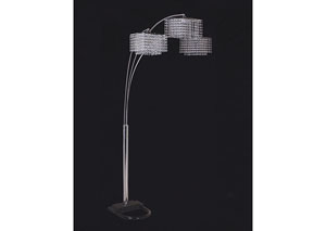 Image for Tina White & Chrome 84' Arch Lamp
