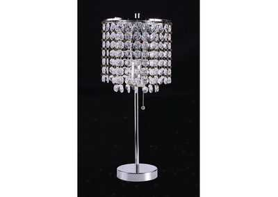 Perla Faux Crystal Table Lamp