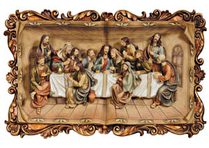 "Image for Homili 19.75"" Last Supper Plaque"