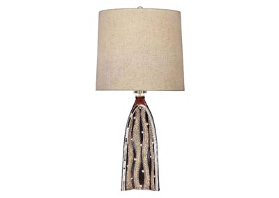 Velma Beige Table Lamp
