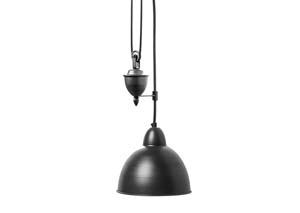 Audhild Dark Gray Iron Ceiling Lamp (Set of 4)