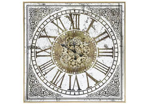 Asgeir Silver/Gold Wall Clock