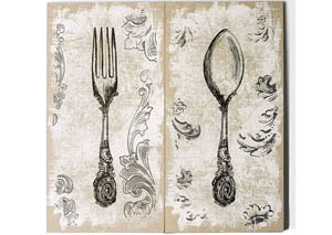 Alvar White/Brown Wall Art (Set of 2)