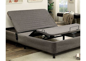Pimpernel Black/Gray Queen Adjustable Bed Frame