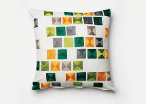 Pixel White Pillow