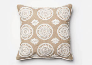 Brooke Beige Pillow (1/Box)