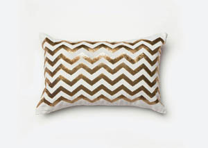 Alyssia White/Gold Pillow