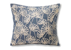 Ines Blue Pattern Pillow 18 x 20