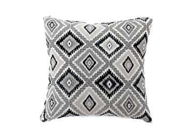 Deamund Black Diamond Pattern Pillow 18 x 18