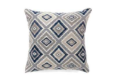 Deamund Blue Diamond Pattern Pillow 22 x 22