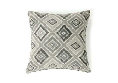 Deamund Gray Diamond Pattern Pillow 18 x 18