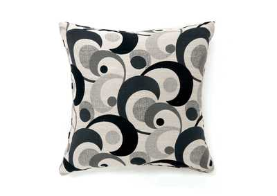 Swoosh Black Motion Pattern Pillow, 18 x 18' (2/Ctn)