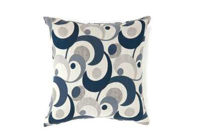 Swoosh Blue Motion Pattern Pillow, 18 x 18' (Set of 2)
