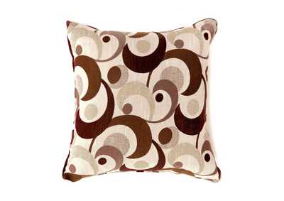 Swoosh Brown Motion Pattern Pillow, 18 x 18' (2/Ctn)