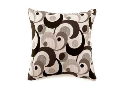 Swoosh Dark Brown Motion Pattern Pillow, 18 x 18' (2/Ctn)