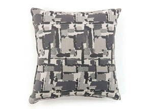 Concrit Gray Patchwork Pattern Pillow 18 x 18
