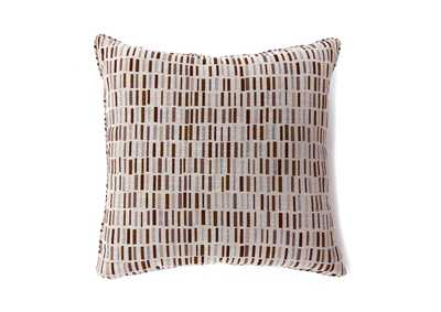 Pianno Brown Rectangle Pattern Pillow 18 x 18' (2/Ctn)