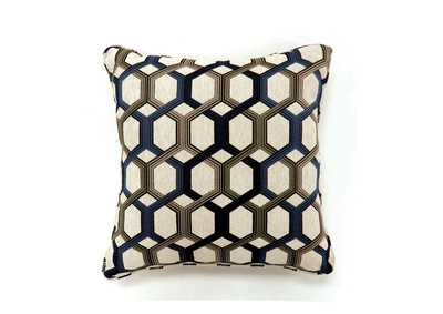 Comney Blue Geometric Pattern Pillow 22 x 22