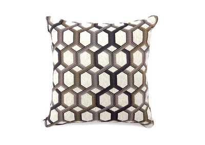 Comney Gray Geometric Pattern Pillow 18 x 18
