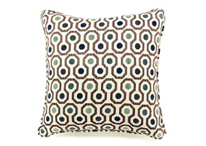 Dot Gray Freize Pattern Pillow 18 x 18