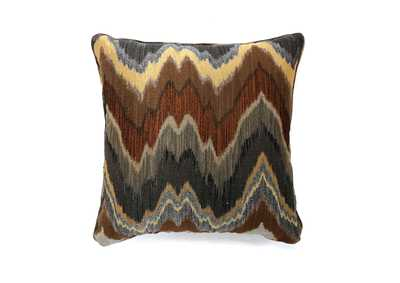 Seismy Blue & Brown Pattern Pillow, 18 x 18' (2/Ctn)