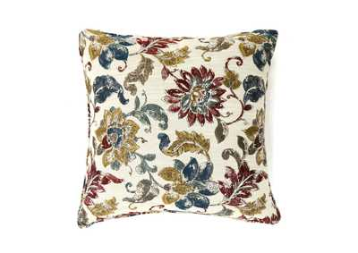 Florra Multi/Floral Pattern Pillow 18 x 18