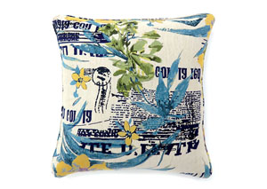 Isa Multi-Tropical Theme Pillow 18 x 18