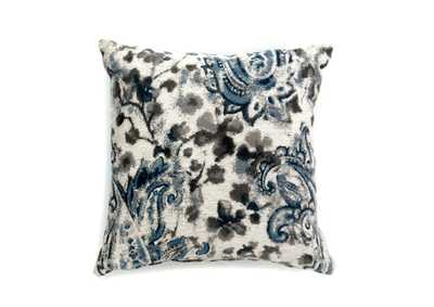 Ria Gray & Blue Floral Pattern Pillow 18 x 18' (2/Ctn)