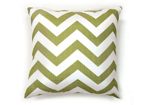 Zoe Green Chevron Pattern Pillow, 22 x 22' (2/Ctn)