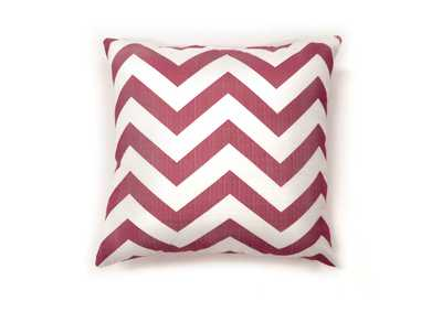 Zoe Red Chevron Pattern Pillow, 18 x 18' (2/Ctn)
