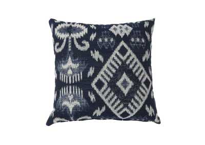 Zena Navy Large Throw Pillow (Set of 2)