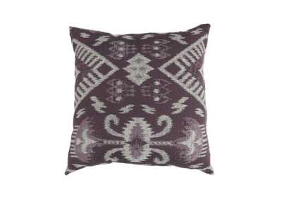Zena Purple Large Throw Pillow (Set of 2)